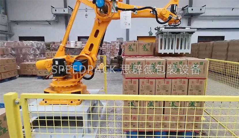 天津某著名酒业集团后段自动化包装线